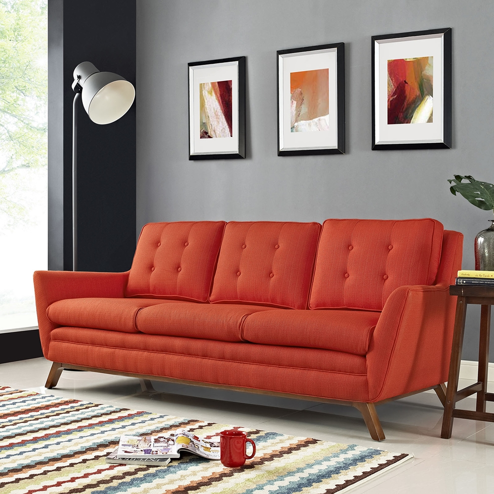 Beguile Fabric Sofa Tufted Dcg Stores
