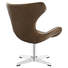 Helm Leatherette Lounge Chair - Brown - EEI-1804-BRN