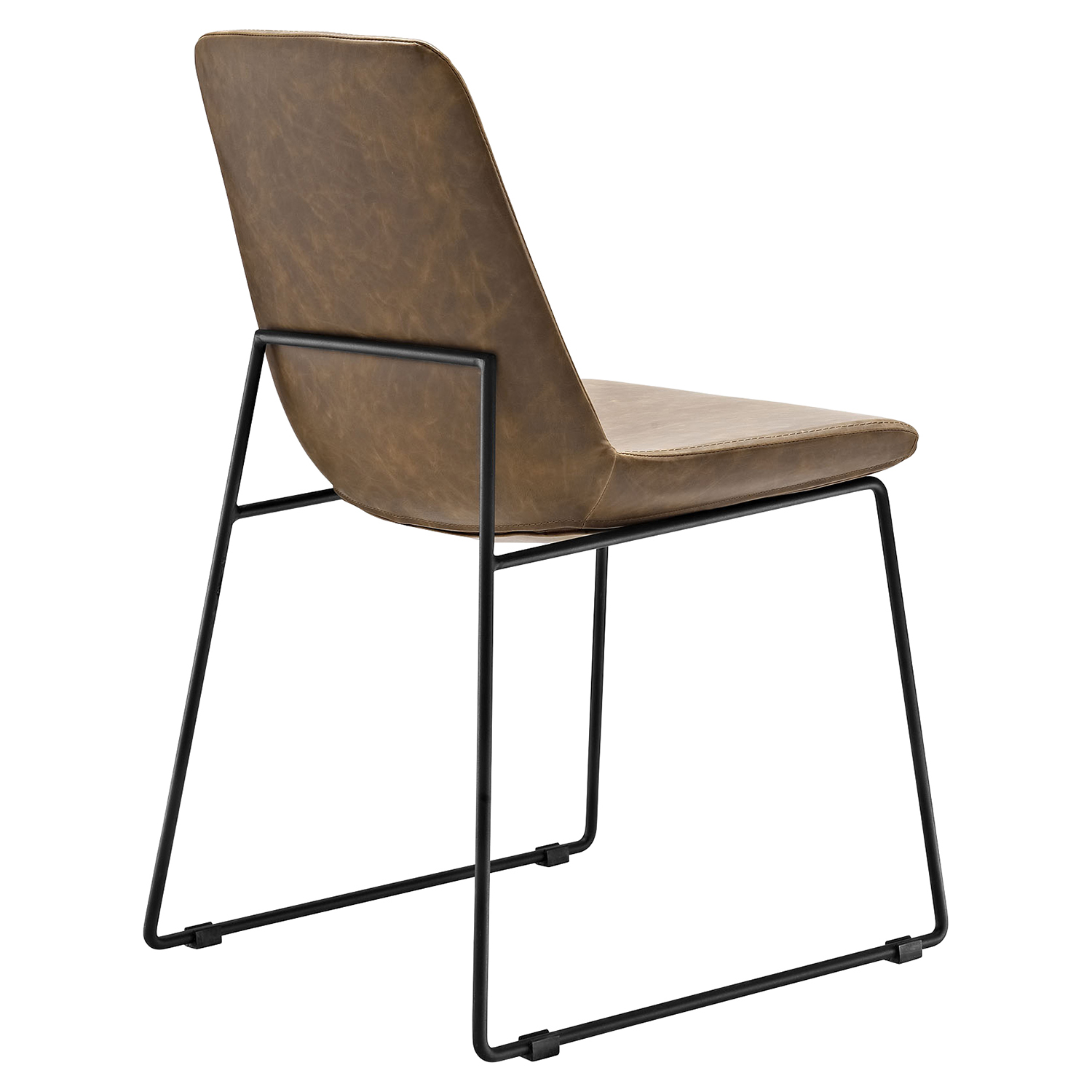 Invite Leatherette Dining Side Chair - Brown - EEI-1805-BRN