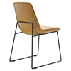 Invite Leatherette Dining Side Chair - Tan - EEI-1805-TAN