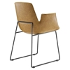 Aloft Faux Leather Dining Armchair - Tan - EEI-1806-TAN