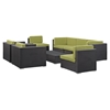Gather 8 Pieces Outdoor Patio Sectional Set - Rectangle Table - EEI-1811-EXP-SET