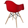 Wood Pyramid Base Armchair - EEI-182