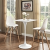 "Lippa 28"" Square Bar Table - Wood Top, White - EEI-1826-WHI"