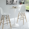 "Lippa 28"" Artificial Marble Bar Table - White - EEI-1827-WHI"