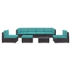 Gather 8 Pieces Outdoor Patio Sectional Set - EEI-1830-EXP-SET