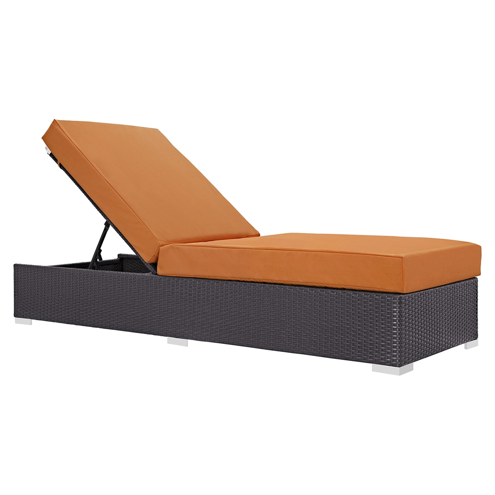 Convene outdoor patio chaise lounge dcg stores for Alyssa outdoor chaise lounge