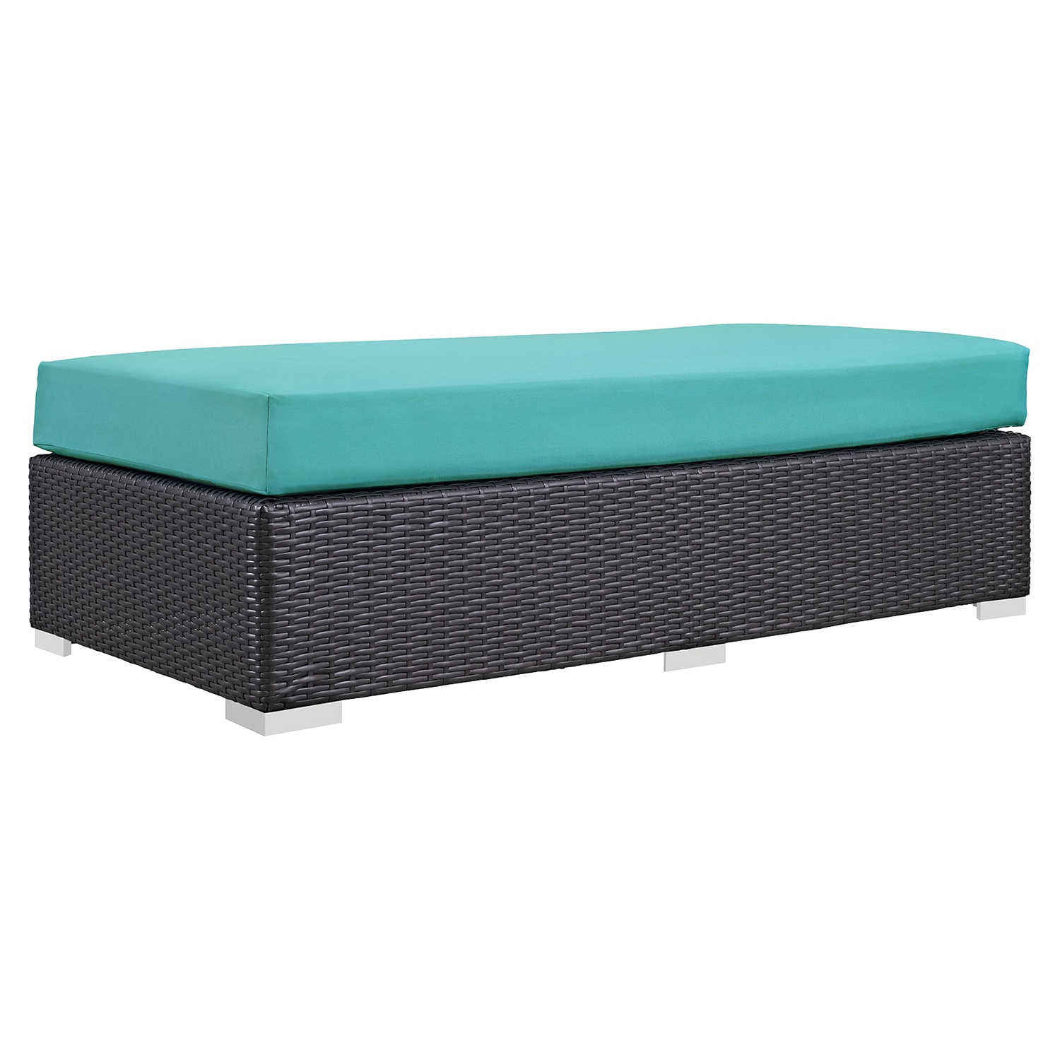 Convene Outdoor Patio Fabric Rectangle Ottoman - EEI-1847-EXP