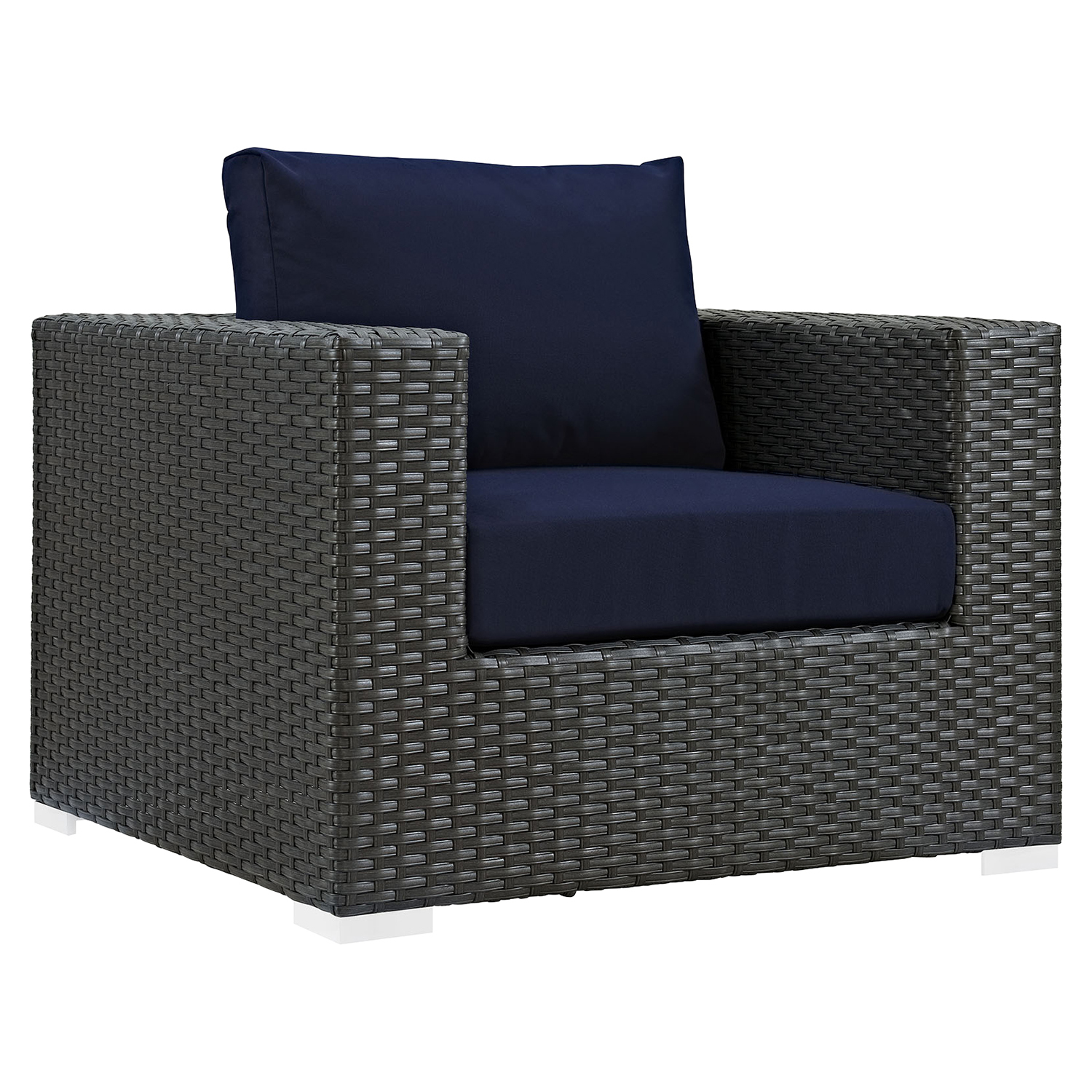 Sojourn Outdoor Patio Armchair - Sunbrella Canvas Navy - EEI-1850-CHC-NAV