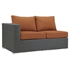 Sojourn 11 Pieces Outdoor Patio Sectional Set - Sunbrella Canvas Tuscan - EEI-1885-CHC-TUS-SET