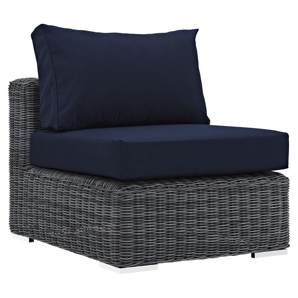 Sunbrella Navy Loveseat: Summon 5 Pieces Patio Sofa Set