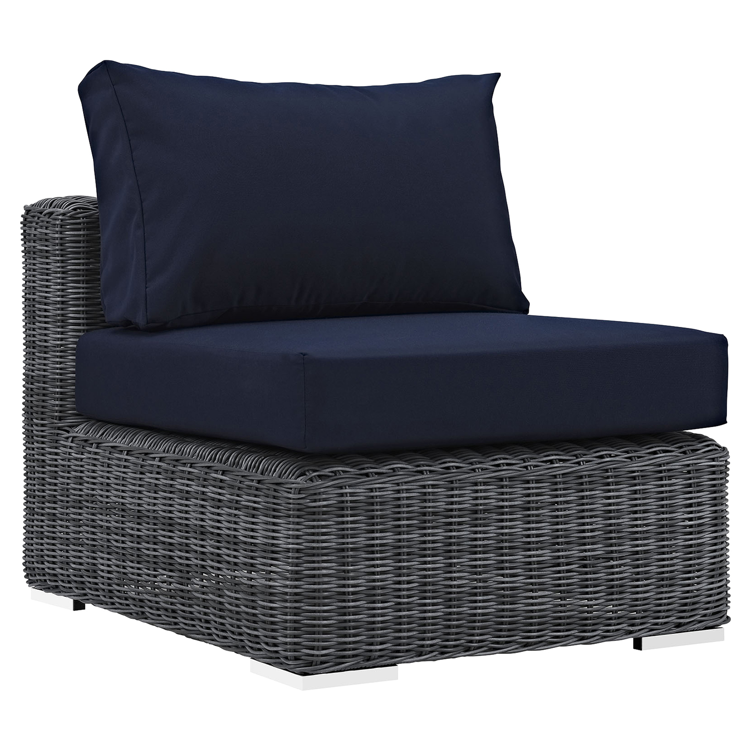 Summon 5 Pieces Patio Sofa Set - Sunbrella Canvas Navy - EEI-1896-GRY-NAV-SET
