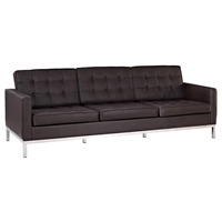 Baliette Modern Classic Leather Loft Sofa