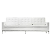 Loft 5 Piece Leather Living Room Set - Stainless Steel, White - EEI-860