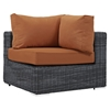 Summon 7 Pieces Outdoor Patio Sectional Sofa Set - Sunbrella Canvas Tuscan - EEI-1897-GRY-TUS-SET