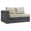Summon 11 Pieces Patio Sectional Set - Sunbrella Canvas Antique Beige - EEI-1899-GRY-BEI-SET