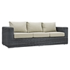 Summon 9 Pieces Patio Sectional Sofa Set - Sunbrella Canvas Antique Beige - EEI-1895-GRY-BEI-SET