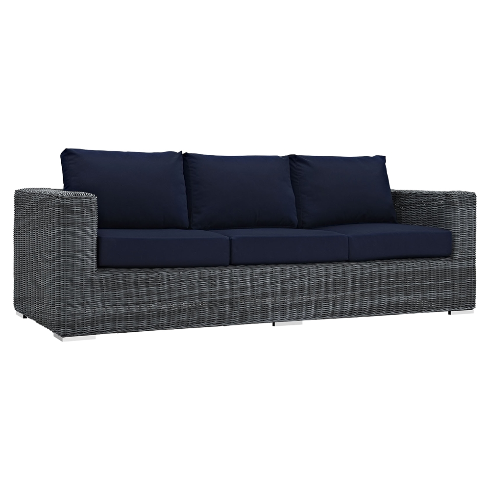 Sunbrella Navy Loveseat: Summon 9 Pieces Outdoor Patio Sectional Sofa Set
