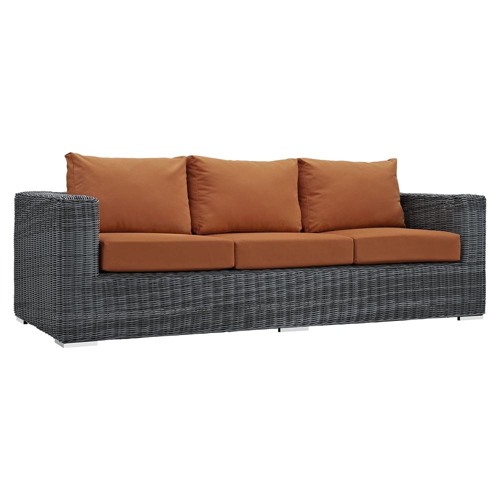 Summon 9 pieces outdoor patio sectional sofa set for Outdoor sectional sofa sunbrella