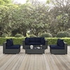Sojourn 5 Pieces Patio Sofa Set - Sunbrella Canvas Navy - EEI-1882-CHC-NAV-SET