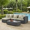 Sojourn 5 Pieces Outdoor Patio Set - Sunbrella Canvas Antique Beige - EEI-1890-CHC-BEI-SET