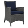 Sojourn 8 Pieces Outdoor Patio Set - Sunbrella Canvas Navy - EEI-2270-CHC-NAV-SET
