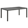 "Sojourn 82"" Outdoor Patio Dining Table - Chocolate - EEI-1931-CHC"