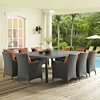 "Sojourn 90"" Outdoor Patio Dining Table - Chocolate - EEI-1933-CHC"