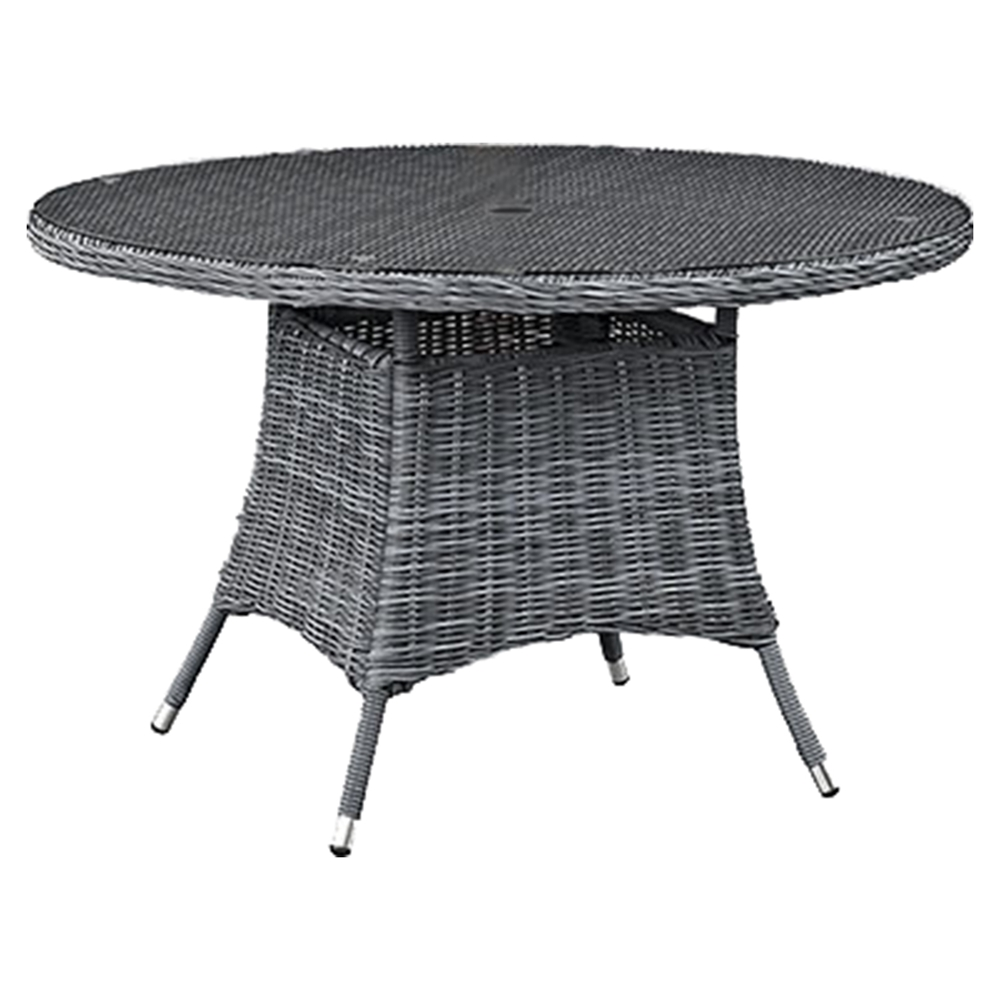 Round Kitchen Table Gray With Chairs And Wine Storage
