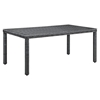 "Summon 83"" Outdoor Patio Dining Table - Gray - EEI-1942-GRY"