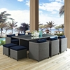 Sojourn 11 Pieces Outdoor Patio Set - Sunbrella Canvas Navy - EEI-1952-CHC-NAV-SET