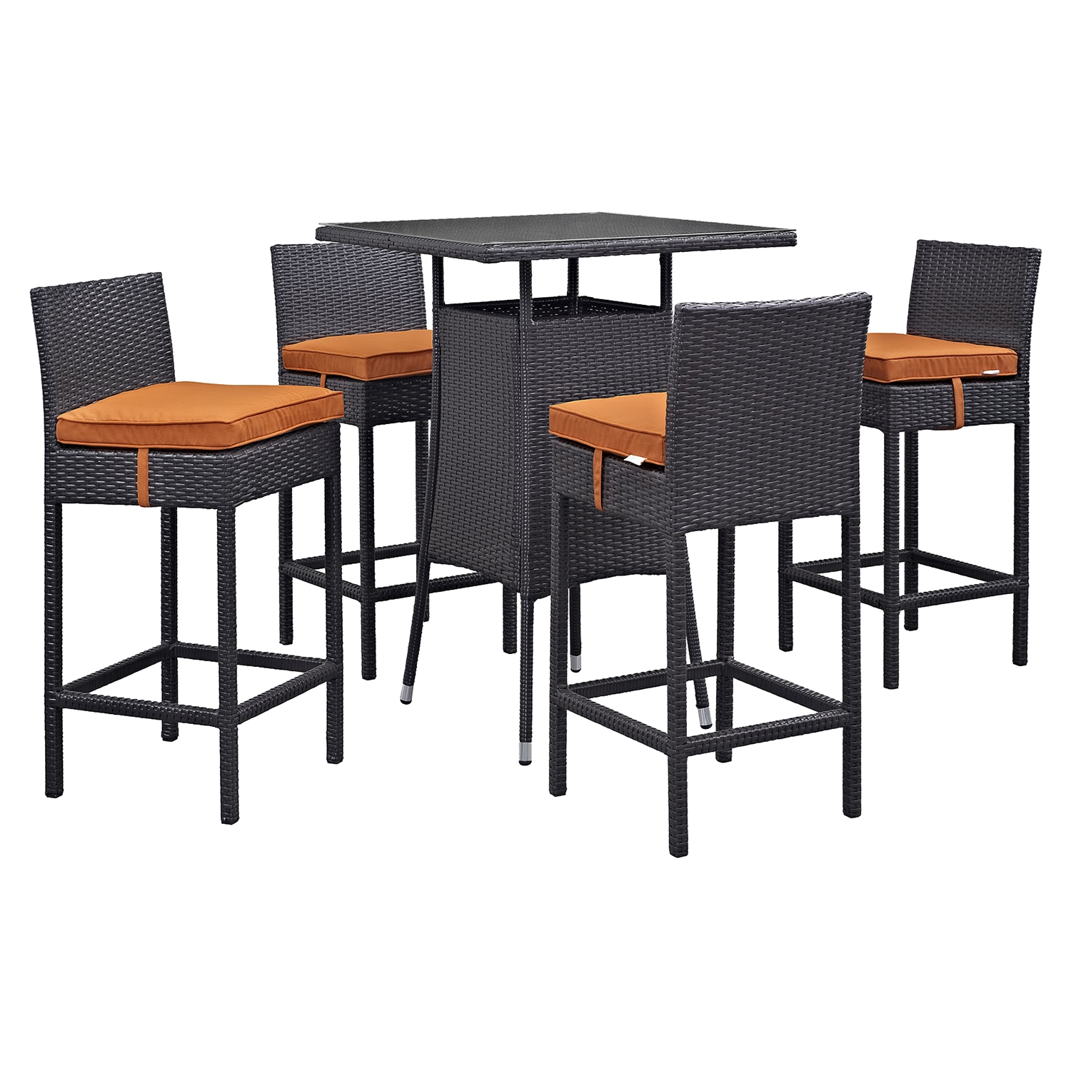 Convene 5 Pieces Outdoor Patio Set - EEI-1963-EXP-SET