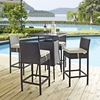 Convene 5 Pieces Outdoor Patio Set - Rectangle Table - EEI-1964-EXP-SET