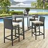 Sojourn 5 Pieces Rectangular Patio Pub Set - Sunbrella Antique Canvas Beige - EEI-1968-CHC-BEI-SET