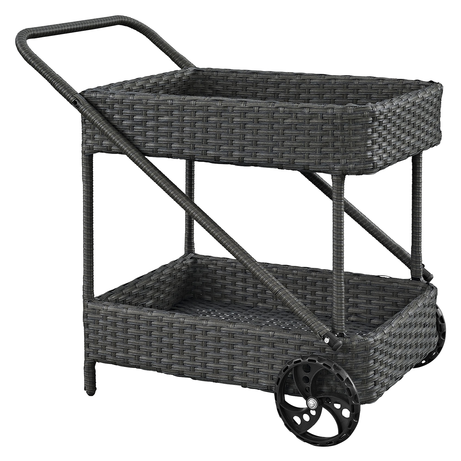 Sojourn Outdoor Patio Beverage Cart - Chocolate - EEI-1979-CHC