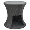 Sojourn Patio Side Table - Chocolate - EEI-1980-CHC