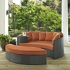 Sojourn Outdoor Patio Daybed - Sunbrella Canvas Tuscan - EEI-1982-CHC-TUS