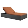 Sojourn Outdoor Patio Double Chaise - Sunbrella Chocolate Tuscan - EEI-1983-CHC-TUS