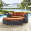 Summon Outdoor Patio Daybed - Sunbrella Canvas Tuscan - EEI-1993-GRY-TUS