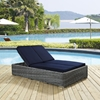 Summon Double Outdoor Patio Chaise - Sunbrella Navy - EEI-1994-GRY-NAV