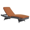Summon Outdoor Patio Chaise - Sunbrella Canvas Tuscan - EEI-1996-GRY-TUS