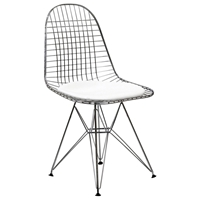 Wire Tower Side Chair with Cushion