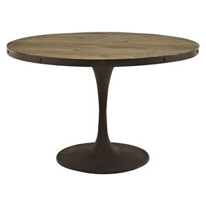 "Drive 48"" Round Dining Table - Wood Top, Brown"