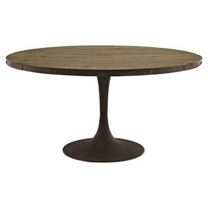 "Drive 60"" Round Dining Table - Wood Top, Brown"