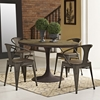 "Drive 60"" Oval Dining Table - Wood Top, Brown - EEI-2008-BRN-SET"