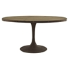 "Drive 78"" Oval Dining Table - Top Wood, Brown - EEI-2010-BRN-SET"