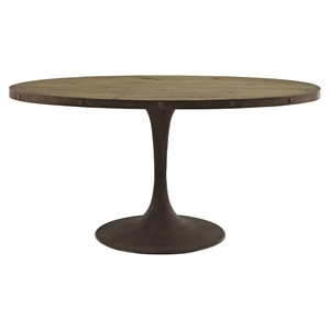 "Drive 60"" Oval Dining Table - Wood Top, Brown"