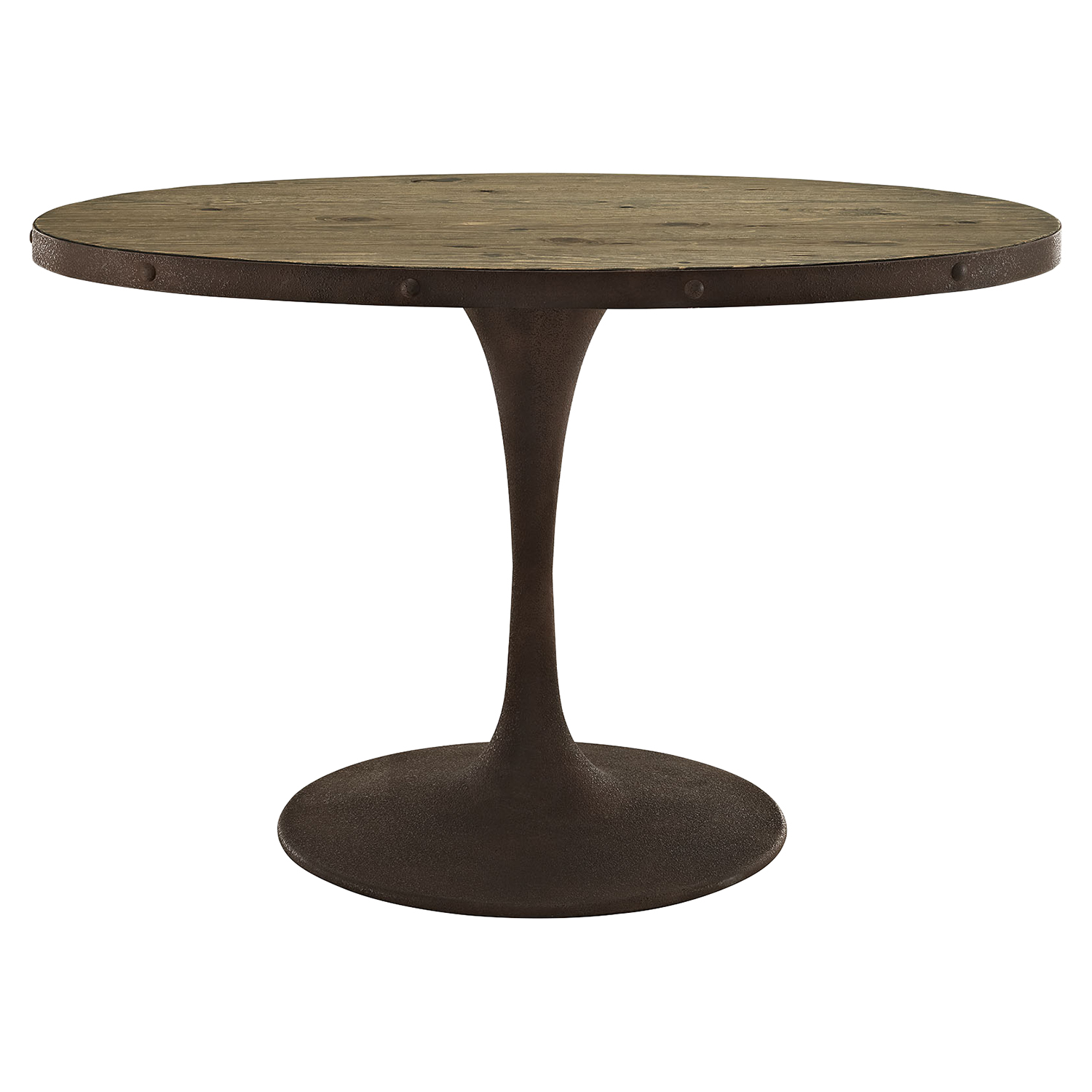 "Drive 47"" Oval Dining Table - Wood Top, Brown - EEI-2009-BRN-SET"
