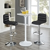 Ripple Leatherette Bar Stool - Black (Set of 2) - EEI-2011-BLK-SET