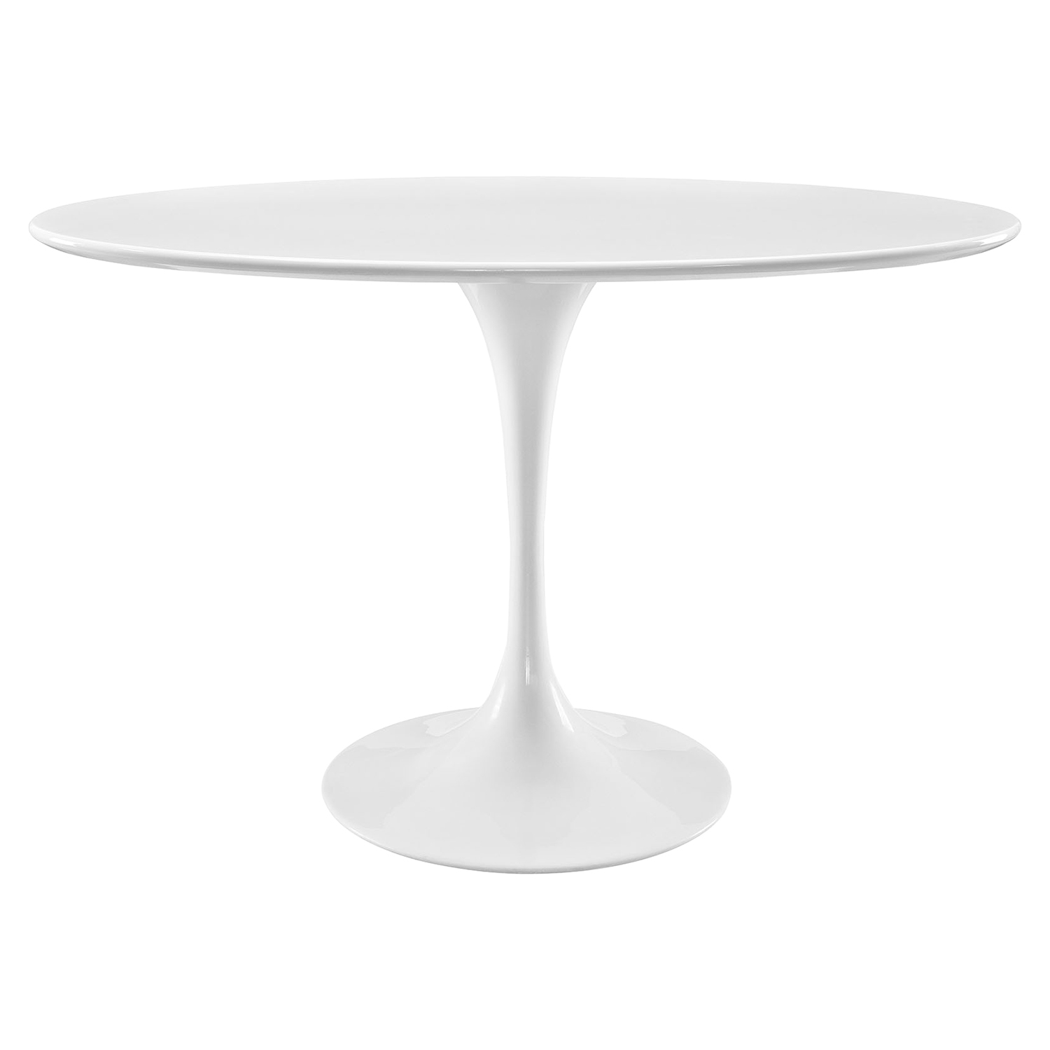 "Lippa 48"" Oval Dining Table - Wood Top, White - EEI-2017-WHI"